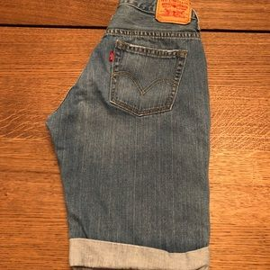 Levi's high waisted bermuda shorts